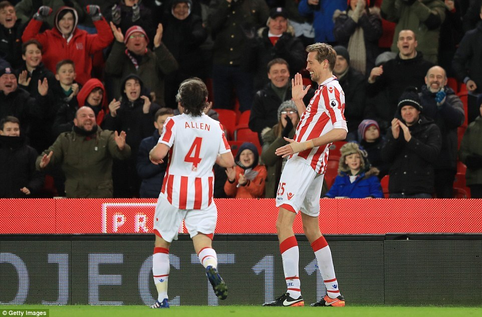 Peter Crouch 100th EPL goal, Stoke - Everton 01.02.2017